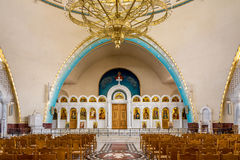 Inside Resurrection of Christ Orthodox Cathedral in Tirana. Royalty Free Stock Image