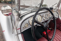 Inside in a retro car Royalty Free Stock Photo