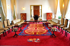 Inside of The Reunification Palace. Reunification Palace formerly known as Independence Palace, built on the site of the former Norodom Palace, is a landmark in Stock Photography
