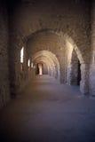 Inside the ribat Monastir,Tunisia. Arcade in the ribat in Monastir ,Tunisia Stock Photo