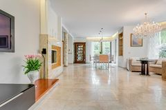 Inside of rich decorative residence Stock Photos