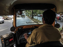 Inside a Rickshaw Stock Photo
