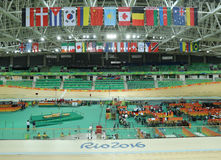 Inside of the Rio Olympic Velodrome located in the Barra Olympic Park in Rio de Janeiro Royalty Free Stock Photography