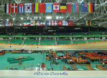 Inside of the Rio Olympic Velodrome located in the Barra Olympic Park in Rio de Janeiro Royalty Free Stock Images