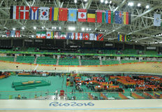 Inside of the Rio Olympic Velodrome located in the Barra Olympic Park in Rio de Janeiro Stock Photography