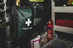 The inside of roadside rescue van by the AA in the United Kingdom. royalty free stock image