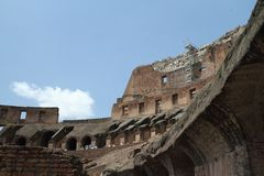 Inside the Roman Coliseum Royalty Free Stock Photography