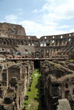 Inside the Roman Coliseum Royalty Free Stock Photo