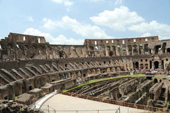 Inside the Roman Coliseum Stock Photo
