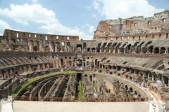 Inside the Roman Coliseum Stock Images