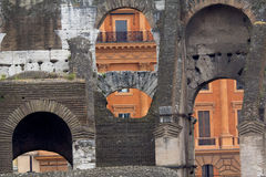Inside the Roman Coliseum, Rome, Lazio, Italy. Royalty Free Stock Images
