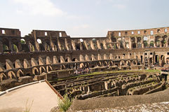Inside the Roman Colosseum Royalty Free Stock Photos