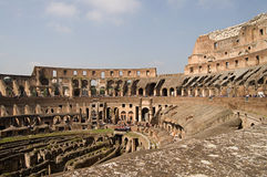 Inside the Roman Colosseum Royalty Free Stock Image