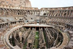 Inside Roman Colosseum Stock Photo