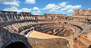Colosseum Rome. Inside the ancient roman Colosseum in Rome, Italy royalty free stock photography