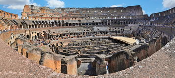 Colosseum Rome. Inside the ancient roman Colosseum in Rome, Italy royalty free stock photos