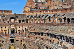 Inside roman colosseum Royalty Free Stock Photos