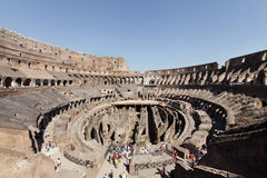 Inside the Roman Colosseum Stock Photography