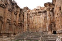 Inside roman temple Stock Image