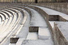 Inside the roman theatre in Orange, France Stock Photo