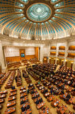 Inside of Romanian Parliament. The Parliament of Romania  is the national legislature of Romania, consisting of the Chamber of Deputies  and the Senate Stock Photography