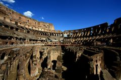 Inside rome colesseum Stock Photos