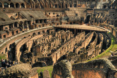 Inside the Rome Colosseum Stock Photos
