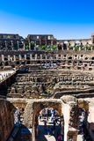 Inside of Rome Colosseum Royalty Free Stock Photography