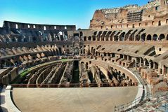 Inside of Rome Colosseum Stock Photography