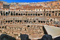 Inside of Rome Colosseum Stock Photo