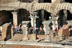 Inside of Rome Colosseum Stock Photos