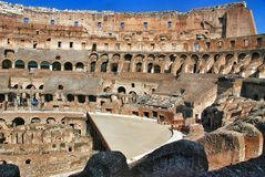 Inside of Rome Colosseum Stock Photo