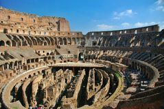 Inside of Rome Colosseum Royalty Free Stock Image