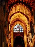 Inside Roslyn Chapel. Famous Roslyn Chapel outside Edinburgh, Scotland Royalty Free Stock Photos