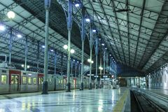 Inside Rossio Station. Lisbon. Portugal Royalty Free Stock Images