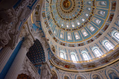 Inside the rotunda of Resurrection Cathedral Royalty Free Stock Photos