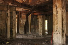 Inside ruined building Stock Photography