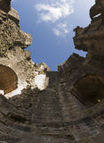 Inside ruined castle tower Royalty Free Stock Image