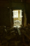 Inside the ruined house Royalty Free Stock Images