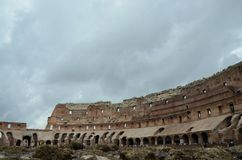 Inside of the Colosseum in Rome, Italy Stock Images