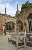 Ruins of Coventry Cathedral in the UK royalty free stock photo