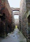Inside the ruins of Slains Castle, Aberdeenshire, Scotland Stock Image