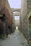 Inside the ruins of Slains Castle Stock Image