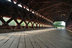 Inside Sachs Covered Bridge Stock Photo