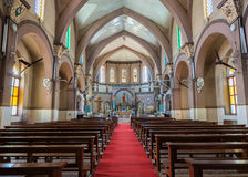 Inside the Sacred Heart Church in Bangalore. Stock Image