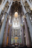 Inside the Sagrada Familia, Barcelona, Spain Royalty Free Stock Photos