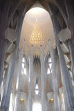 Inside the Sagrada Familia, Barcelona, Spain Royalty Free Stock Photo