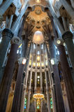 Inside of Sagrada Familia Stock Image