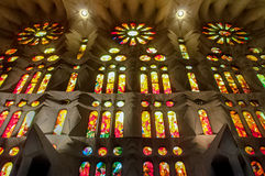 Inside of Sagrada Familia Royalty Free Stock Image