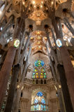 Inside of Sagrada Familia Royalty Free Stock Photos